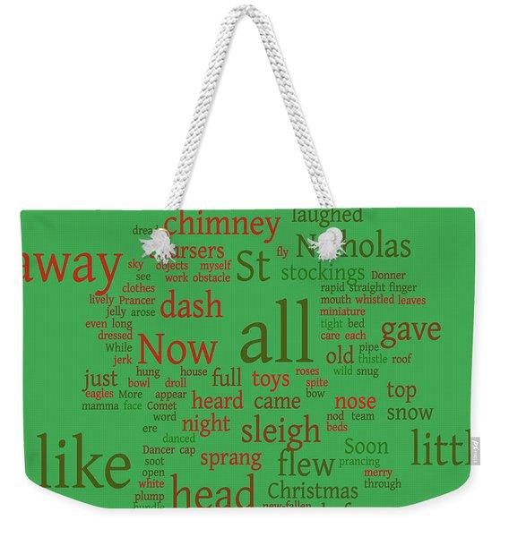 Xmas Greeting Weekender Tote Bag