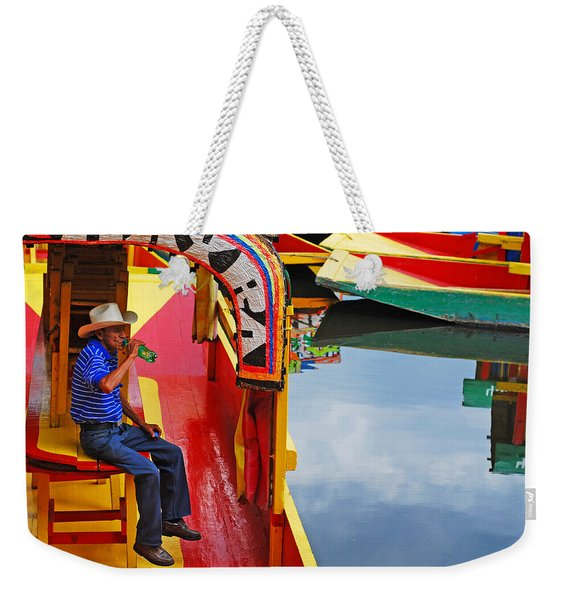 Weekender Tote Bag featuring the photograph Xochimilco by Skip Hunt