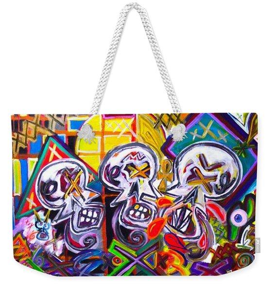 Xxxkull The Xxxiamese Twins  Weekender Tote Bag
