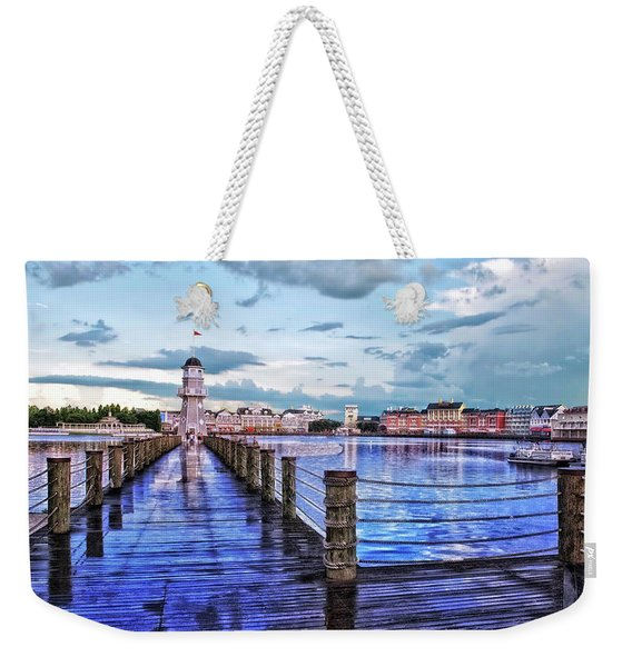 Yacht And Beach Club Lighthouse Mp Weekender Tote Bag