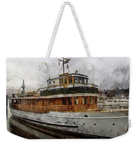 Yacht M V Discovery Weekender Tote Bag