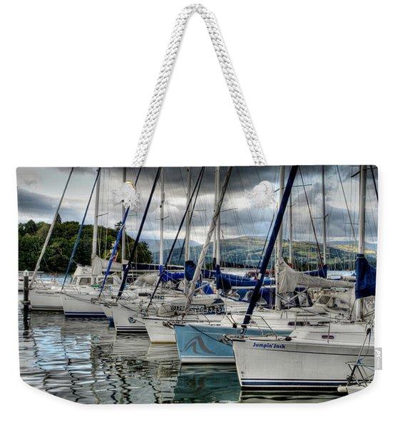 Yachts On Lake Windermere Weekender Tote Bag