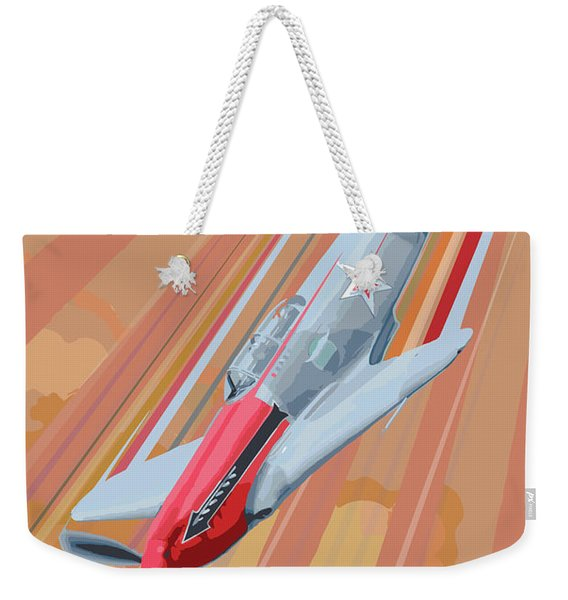 Yakovlev Yak-3 Pop Art Weekender Tote Bag
