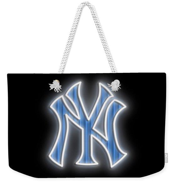 Yankees Neon Sign Weekender Tote Bag
