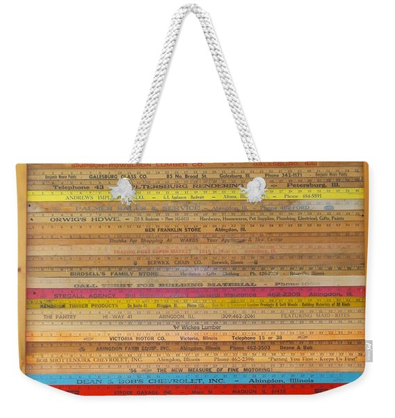 Yardstick Framed Weekender Tote Bag