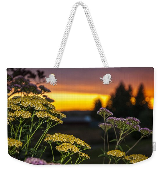 Yarrow At Sunset Weekender Tote Bag