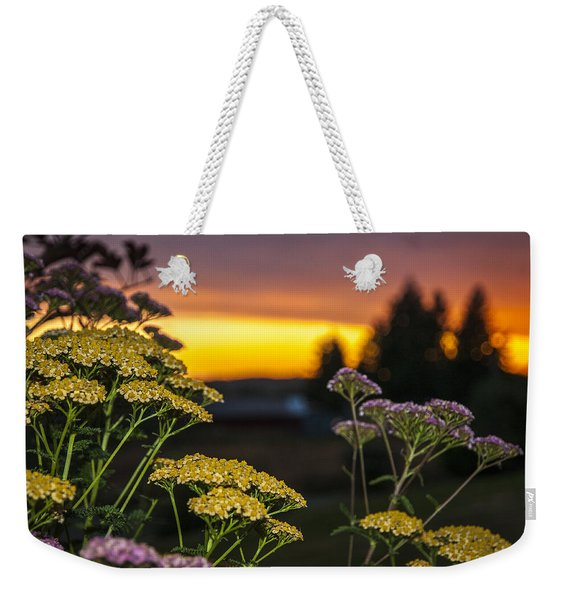Yarrow At Sunset Weekender Tote Bag