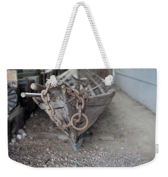 Ye Old Fishing Boat Weekender Tote Bag
