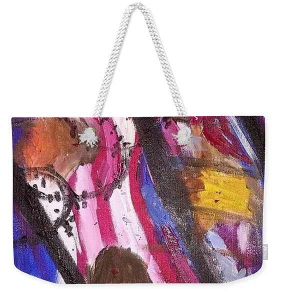 Weekender Tote Bag featuring the painting Yearning To Be Free by Kevin Daly
