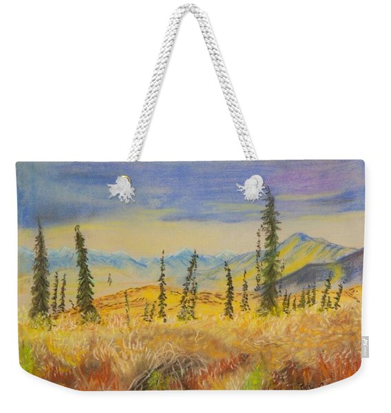 Yellow Alaska Weekender Tote Bag