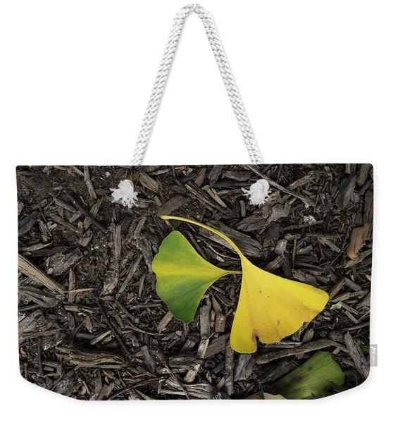 Yellow And Green Gingko Weekender Tote Bag