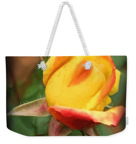 Yellow And Orange Rosebud Weekender Tote Bag