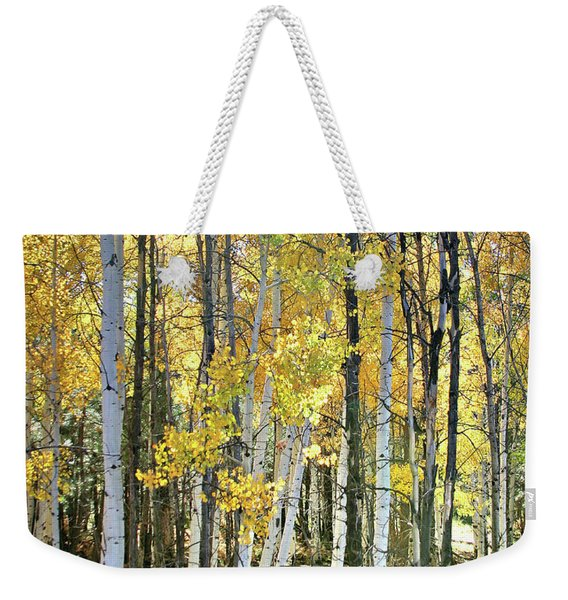 Yellow Aspens Weekender Tote Bag