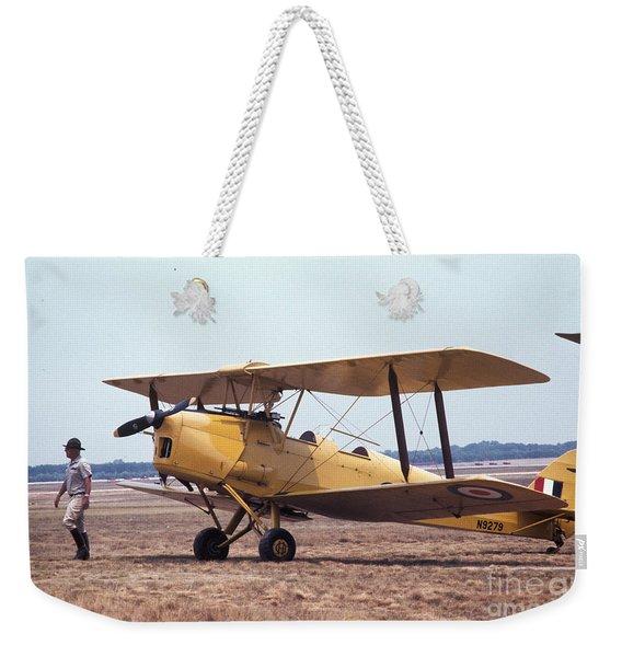 Yellow Bipe Weekender Tote Bag