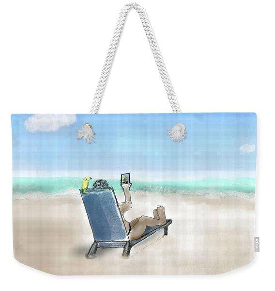 Yellow Bird Beach Selfie Weekender Tote Bag