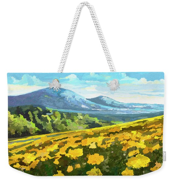 Yellow Blanket Weekender Tote Bag