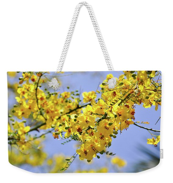 Yellow Blossoms Weekender Tote Bag