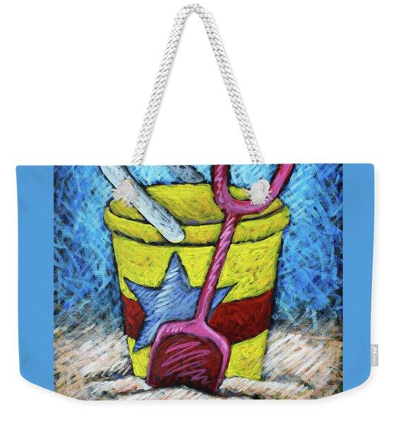 Yellow Bucket Weekender Tote Bag