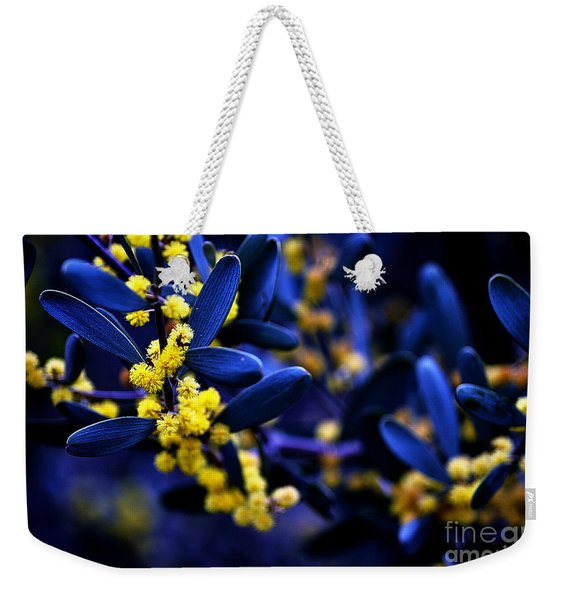 Yellow Bursts In Blue Field Weekender Tote Bag