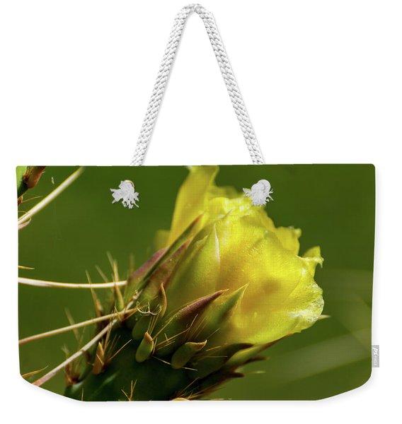 Yellow Cactus Flower Weekender Tote Bag