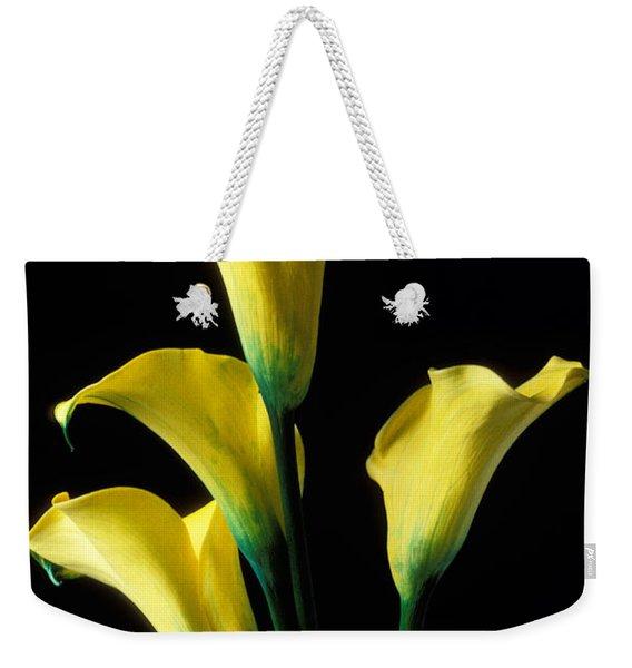 Yellow Calla Lilies  Weekender Tote Bag
