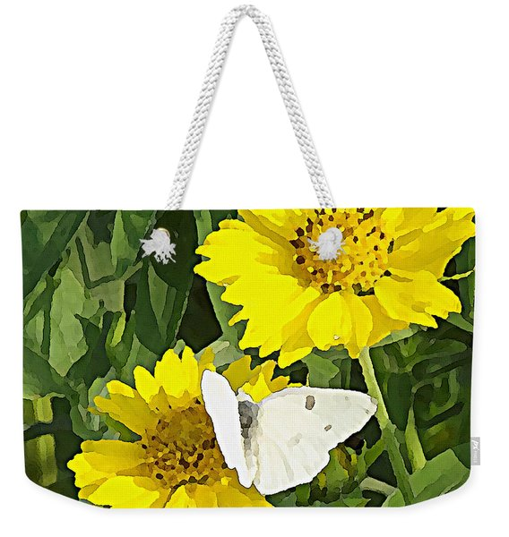 Yellow Cow Pen Daisies Weekender Tote Bag
