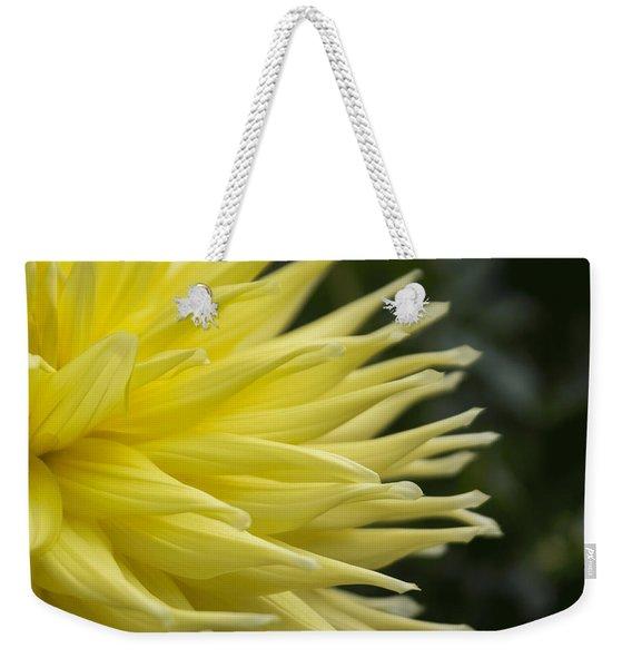 Yellow Dahlia Petals Weekender Tote Bag