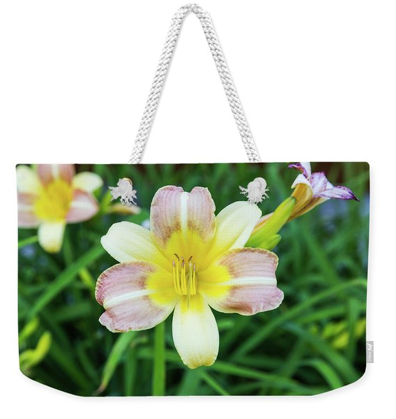 Yellow Daylily Weekender Tote Bag