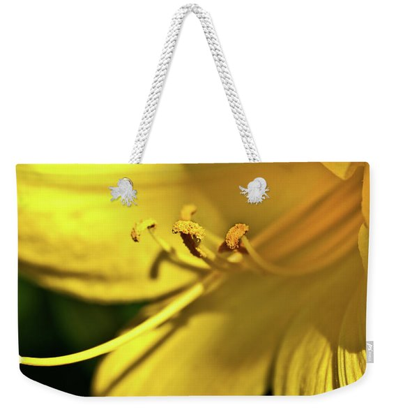Yellow Daylily Weekender Tote Bag