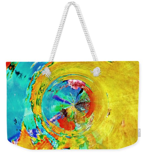 Yellow Eclipse  Weekender Tote Bag