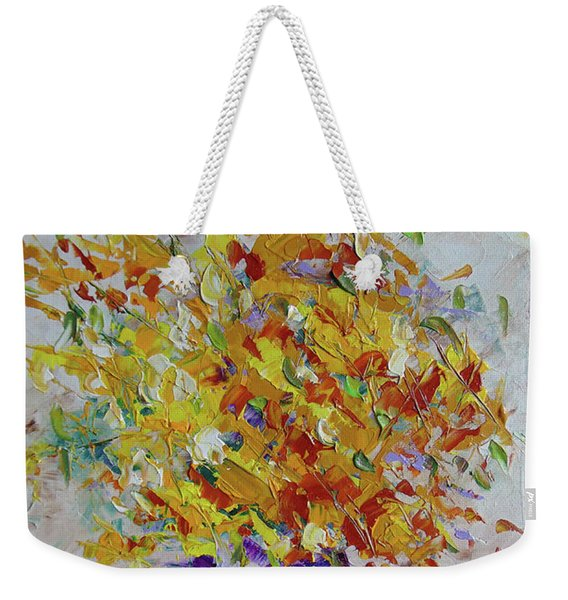 Yellow Florwers Weekender Tote Bag