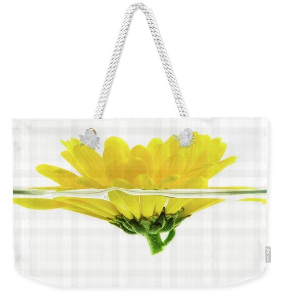 Yellow Flower Floating In Water Weekender Tote Bag