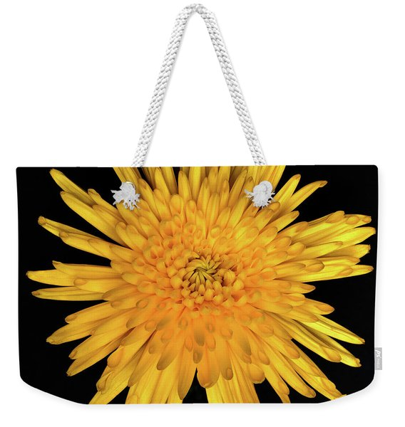 Yellow Flower Macro Weekender Tote Bag