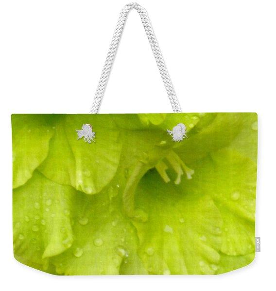 Yellow Gladiola Refreshed Weekender Tote Bag