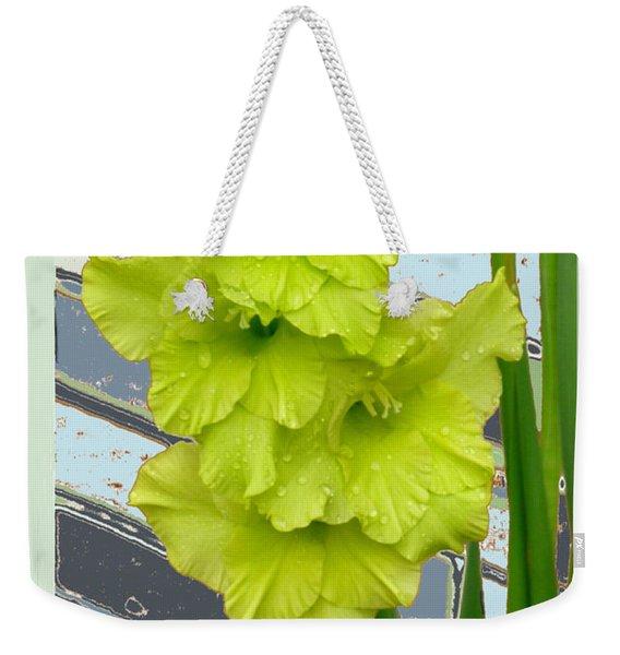Yellow Gladiolas Weekender Tote Bag