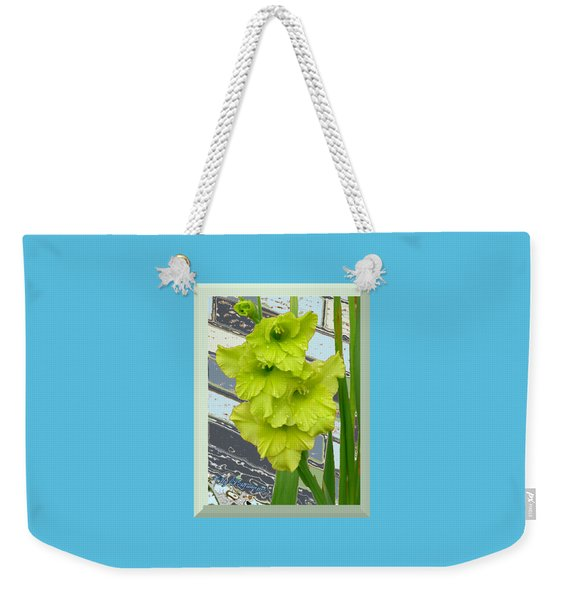 Yellow Gladiolas Weekender Tote Bag