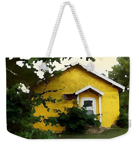 Yellow House In Shantytown  Weekender Tote Bag