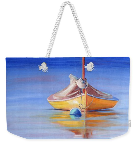 Yellow Hull Sailboat Iv Weekender Tote Bag