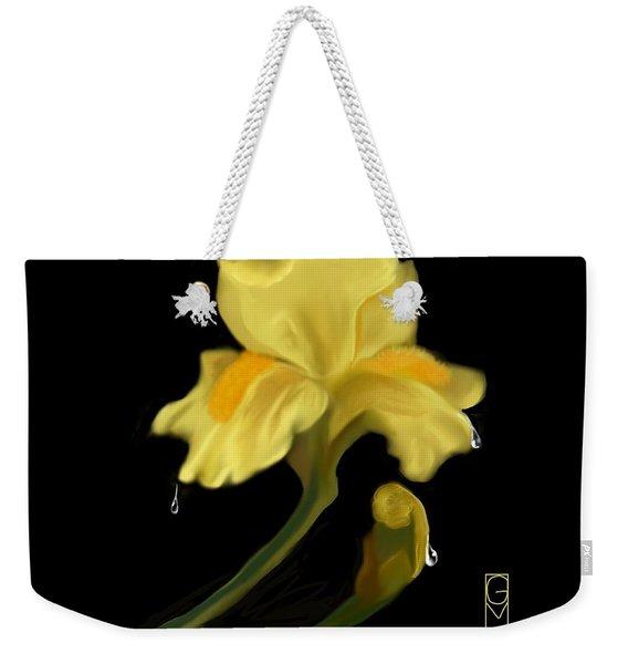 Yellow Iris Weekender Tote Bag