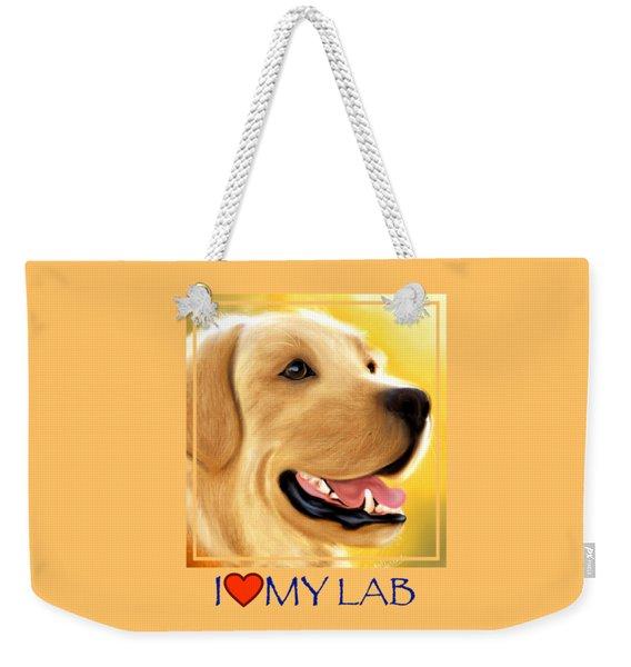 Yellow Lab Portrait Weekender Tote Bag