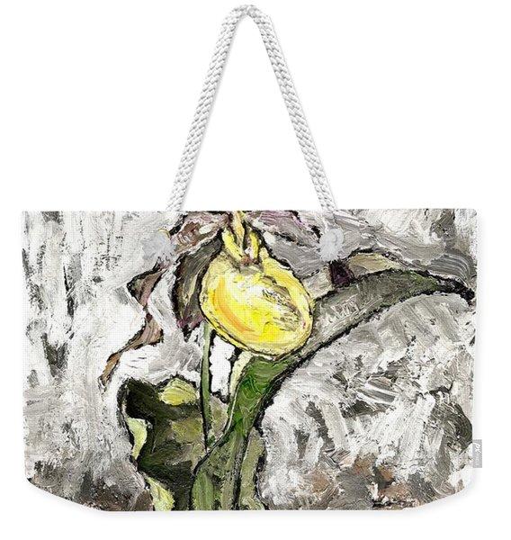 Yellow Lady's Slipper Weekender Tote Bag