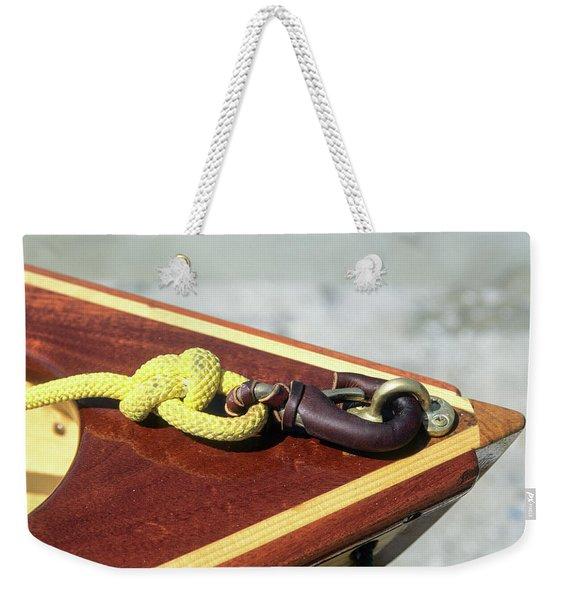 Yellow Line Weekender Tote Bag