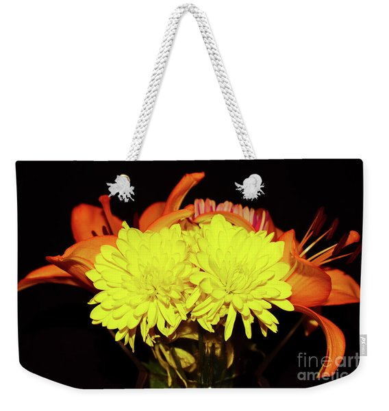 Yellow Mums And Orange Lilies  Weekender Tote Bag
