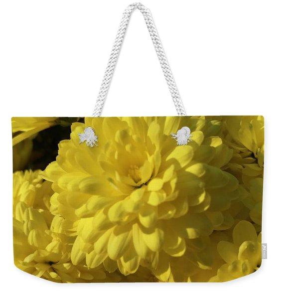 Yellow Mums Weekender Tote Bag
