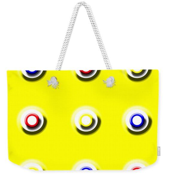 Yellow Nine Squared Weekender Tote Bag