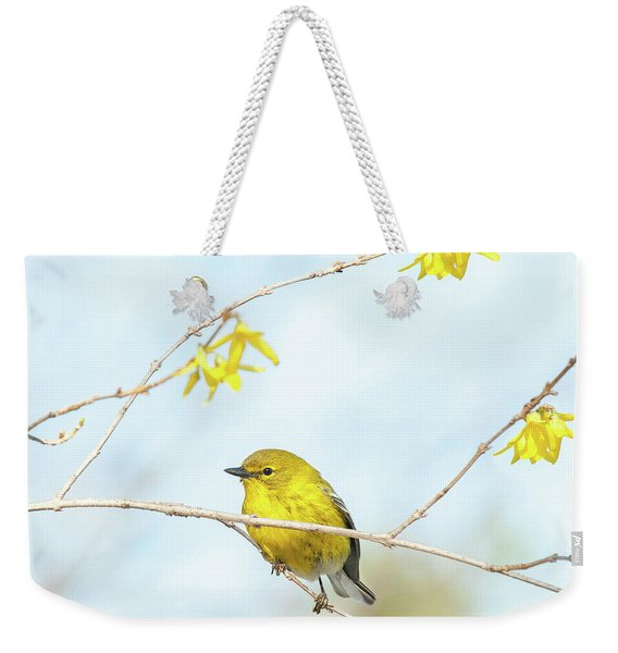 Yellow On Yellow Pine Warbler Weekender Tote Bag