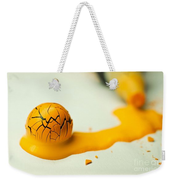 Yellow Painted Ball Weekender Tote Bag
