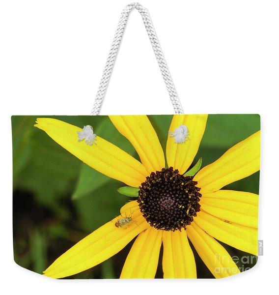 Yellow Petaled Flower With Bug Weekender Tote Bag