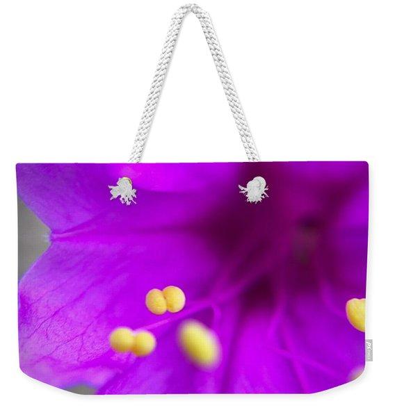Yellow Pistil Weekender Tote Bag