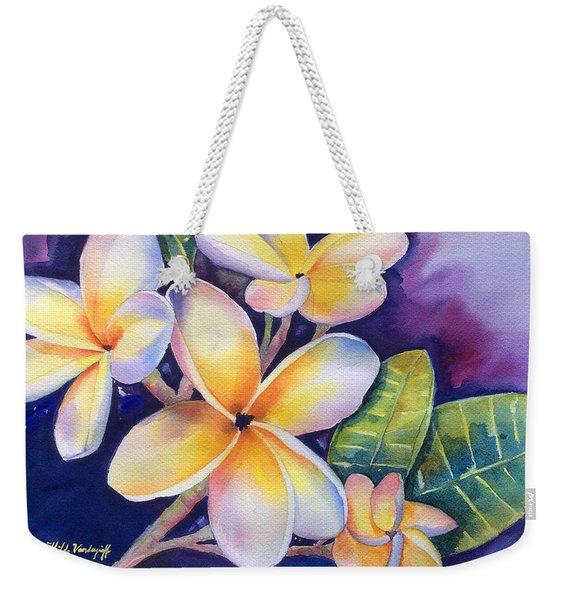 Yellow Plumeria Flowers Weekender Tote Bag